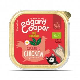 Edgard & Cooper, tarrinas sin cereales con pollo ecológico para gatos adultos