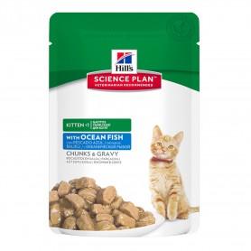 Comida Húmeda Hill's Science Plan Kitten con Pescado azul (Bolsita)