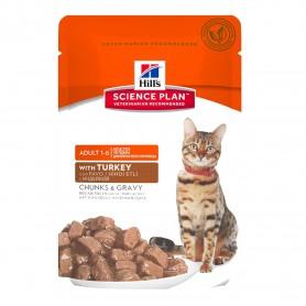 Comida Húmeda para gatos Hill's Science Plan Feline Adult con Pavo (Bolsita)