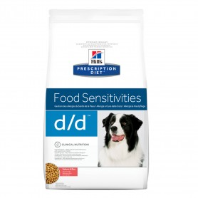 Hill's Prescription Diet Canine d/d salmón y arroz, pienso veterinario