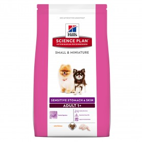 Hill's Science Plan Canine Adult Small & Miniature Sensitive Stomach & Skin, pienso para perros