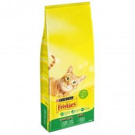 Pienso Friskies para gatos Adultos con Conejo, Pollo y Verduras
