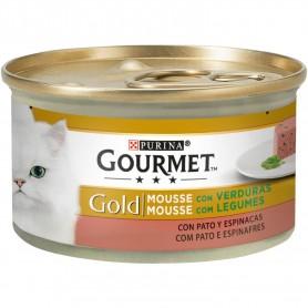 comida húmeda Purina Gourmet Gold Mousse Pato y Espinacas