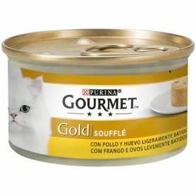comida húmeda Purina Gourmet Gold Soufflé Pollo para gatos
