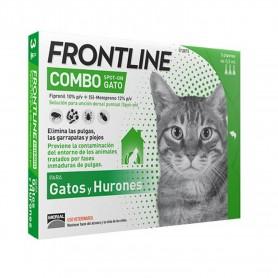 Pipetas Frontline Combo Spot On para Gatos
