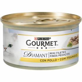 comida húmeda para gatos Purina Gourmet Diamant Finas lonchas con Pollo
