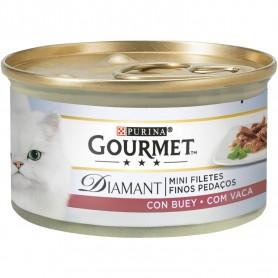 Comida húmeda para gatos Purina Gourmet Diamant Finas lonchas con Buey