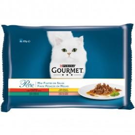 Purina Gourmet Perle Finas láminas, comida húmeda para gatos